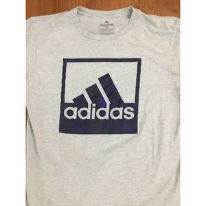 "Adidas Logo ""Go to Tee"" Adult Large Gray"